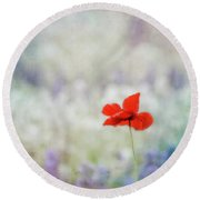 Round Beach Towel featuring the photograph I Wish by Robin Dickinson