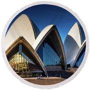 Iconic Sydney Opera House Round Beach Towel