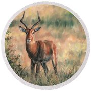 Impala Round Beach Towel
