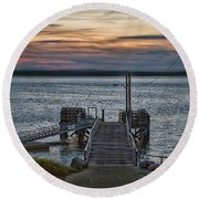 In Colors Yet Untold Round Beach Towel
