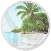 In Paradise Round Beach Towel