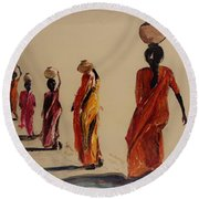 In Search Of Water. Round Beach Towel