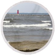 Round Beach Towel featuring the photograph In The Distance by Tara Lynn