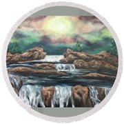 In The Land Of Dreams 3 Round Beach Towel