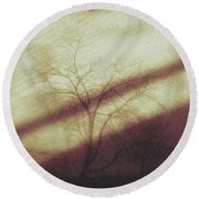 In The Quiet Round Beach Towel by Allen Beilschmidt