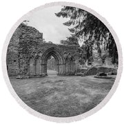 Inchmahome Priory Round Beach Towel