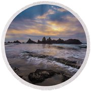 Incoming Tide 2 Round Beach Towel