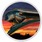 Indian Rainbow Round Beach Towel
