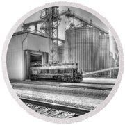 Round Beach Towel featuring the photograph Industrial Switcher 5405 by Jim Thompson