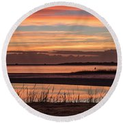 Inlet Watch Sunrise Round Beach Towel
