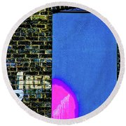 Inside Out Round Beach Towel by Michael Nowotny