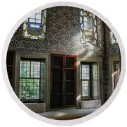 Inside The Harem Of The Topkapi Palace Round Beach Towel by Patricia Hofmeester