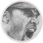 Intensity Pujols Round Beach Towel by Tamir Barkan