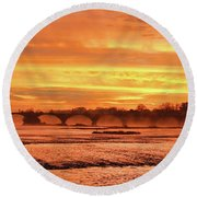 Interurban Sunrise 5920 Round Beach Towel