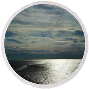 Into The Light Round Beach Towel by Skip Willits