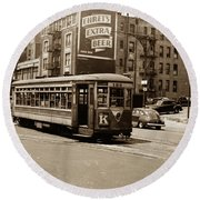 Inwood Trolley Round Beach Towel