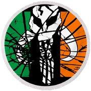 Irish Mandalorian Flag Round Beach Towel by Dale Loos Jr
