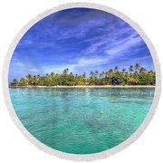 Island In The Sun Round Beach Towel