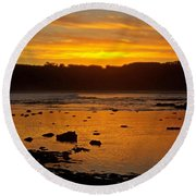 Island Sunset Round Beach Towel by Blair Stuart