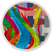 It's A Virgo - The End Of Summer  Round Beach Towel