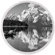 Jackson Lake, Gtnp  Round Beach Towel
