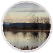 January Thaw 2 Round Beach Towel