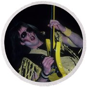 Jay Jay French Of Twisted Sister Round Beach Towel