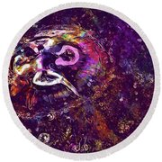 Round Beach Towel featuring the digital art Jellyfish North Sea Beach Mollusk  by PixBreak Art