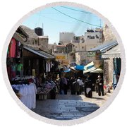 The Old City Of Jerusalem 1 Round Beach Towel