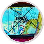 Jesus Is The Way Round Beach Towel