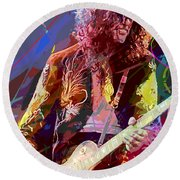 Jimmy Page Les Paul Gibson Round Beach Towel