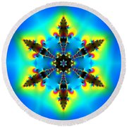 Jyoti Ahau 153 Round Beach Towel by Robert Thalmeier