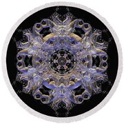 Jyoti Ahau 177 Round Beach Towel by Robert Thalmeier