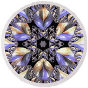 Jyoti Ahau 178 Round Beach Towel by Robert Thalmeier