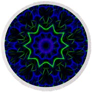Kaleidoscope 449 Round Beach Towel