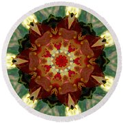 Kaleidoscope - Warm And Cool Colors Round Beach Towel