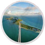 Key West Round Beach Towel