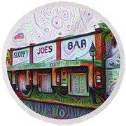 Key West Florida Sloppy Joes Bar Round Beach Towel by Bill Cannon