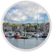 Kinsale Harbor  Round Beach Towel