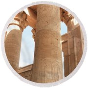 Round Beach Towel featuring the photograph Kom Ombo Temple by Silvia Bruno
