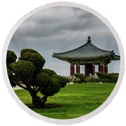 Korean Bell Of Friendship Round Beach Towel