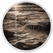 Round Beach Towel featuring the photograph La Jolla Sunset by Samuel M Purvis III