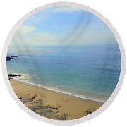 Laguna Beach California Round Beach Towel