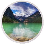Lake Louise Is Really Green Round Beach Towel