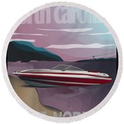 Lake Norman Poster  Round Beach Towel