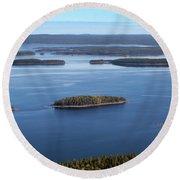 Lake Pielinen Round Beach Towel