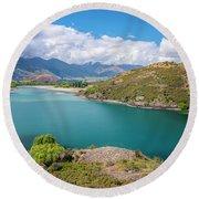 Lake Wanaka New Zealand IIi Round Beach Towel
