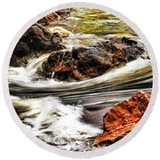 Lamina Flow Round Beach Towel by Blair Stuart