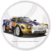 Lancia Stratos Hf Round Beach Towel