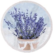 Lavender Round Beach Towel by Stephanie Frey
